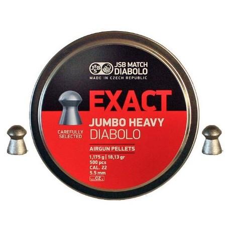 JSB DIABOLO EXACT JUMBO HEAVY 5,52 (ORIGINALES)