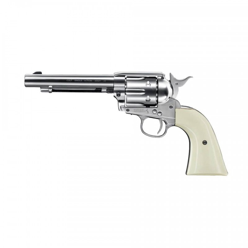 COLT PEACEMAKER NIQUEL WHITE SINGLE ACTION ARMY Co2 4,5bbs