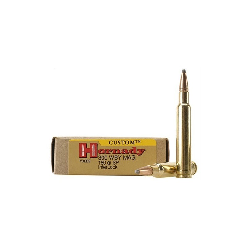 HORNADY CUSTOM 300 Weatherby Magnum 180GR. InterLock Spire Point