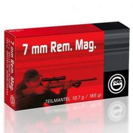 GECO 7mm Rem Mag TEILMANTELL Semiblindada 165gr